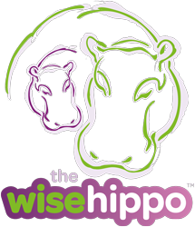 the wise hippo main logo block 215x250px