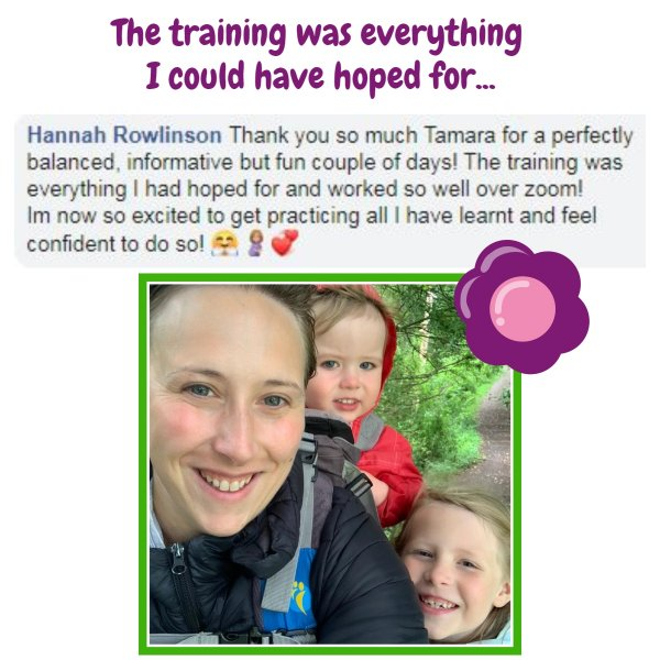 july training add with Hannah